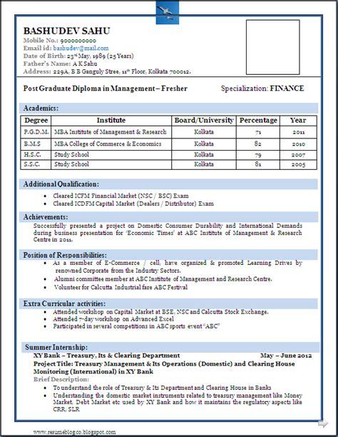 resume format  freshers niveresume job resume