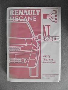 U00a329 99 Renault Megane Wiring Diagrams Workshop Manual 2002
