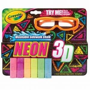 Crayola Neon 3D Sidewalk Chalk All Brands Toys Pty Ltd