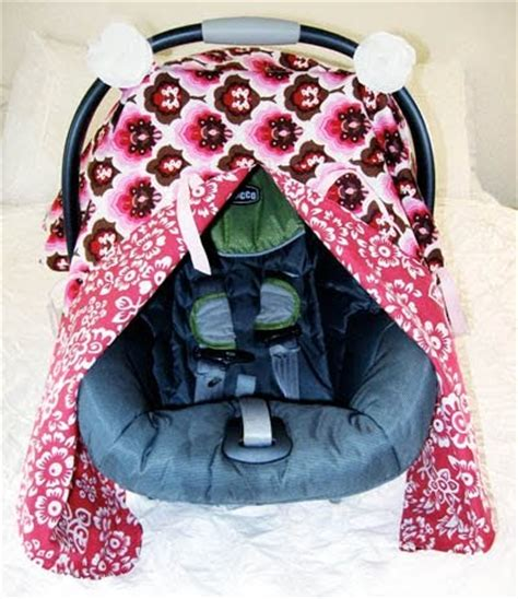 carseat canopy cover closet crafter car seat canopy with peek a boo tutorial
