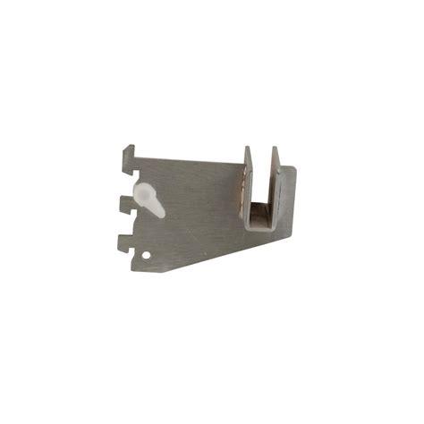 econoco 3 in l satin chrome hangrail bracket for president line slotted standards cr3 sc the