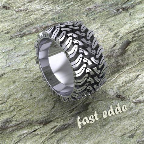 tread ring silver  gold edde designs