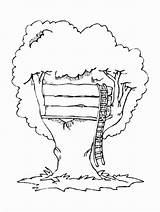 Coloring Tree Pages Magic Treehouse Printable Houses Buildings Architecture Popular Bestcoloringpagesforkids sketch template