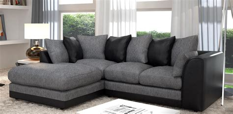 Black And Gray Sofa by 20 Choices Of Black Corner Sofas Sofa Ideas