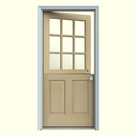 exterior doors home depot jeld wen 32 in x 80 in 9 lite unfinished hemlock