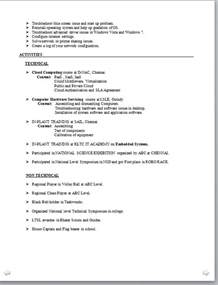 Amazing Cover Letter Exles Sle Resume For Freshers Non Technical Templates