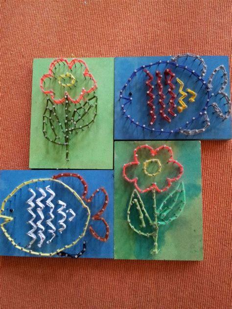 werken mit kindern ideen technisches werken vs h 246 rbranz textiles gestalten kindergarten handwerk fadengrafik