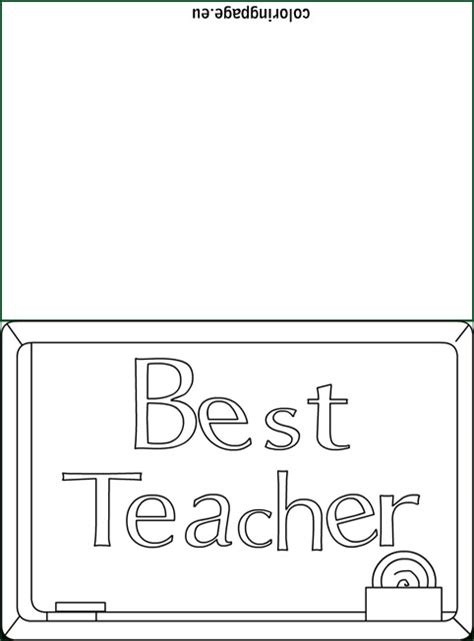 teacher card coloring coloring page