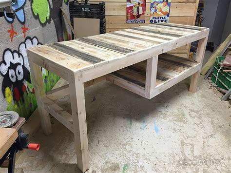 bureau palette bois bureau en palette par la palette des rois
