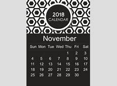 Get Free Editable November & December 2018 Printable