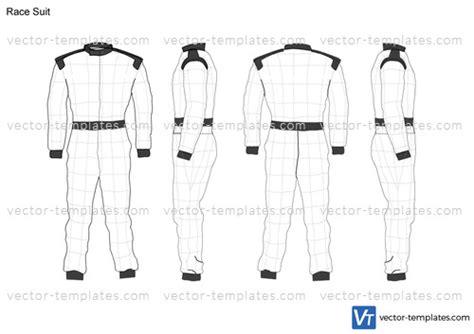 templates miscellaneous  race suit