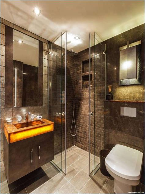glass tile bathroom banyo modelleri dekorasyonu 2018 dekorcenneti com
