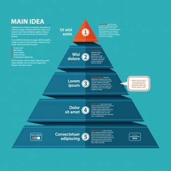 pyramid infographic vectors   psd files