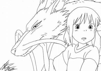 Ghibli Coloring Studio Spirited Away Pages Drawing