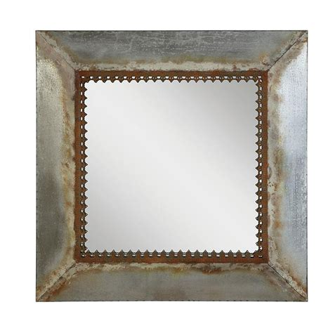 square metal framed mirror 28 da1759