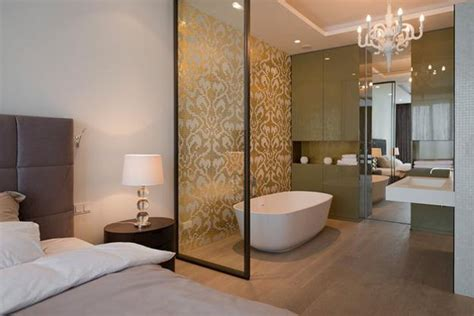 Modern Bathroom And Bedroom by 30 All In One Bedroom And Bathroom Design Ideas For Space
