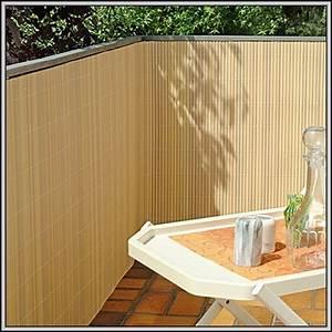 Balkon Sichtschutz Bambus Kunststoff Balkon House Und