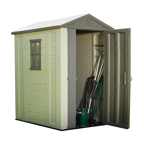 keter 6 x 6 plastic shed new keter factor resin outdoor garden storage shed 4ft x