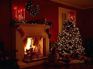 Christmas fireplace fire holiday festive decorations u ...