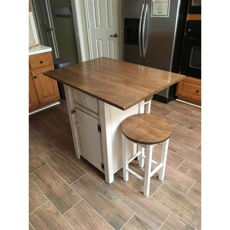 Stools For Counter Height Island by Small Primitive Kitchen Island In Counter Height With 2 Stools