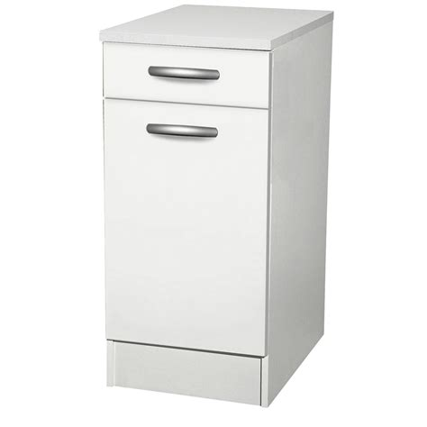 plan de travail cuisine profondeur 80 cm meuble de cuisine bas 1 porte 1 tiroir blanc h86x l40x