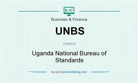 what does unbs definition of unbs unbs stands for uganda national bureau of standards