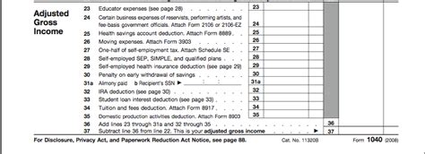 Sample W2 Adjusted Gross Income