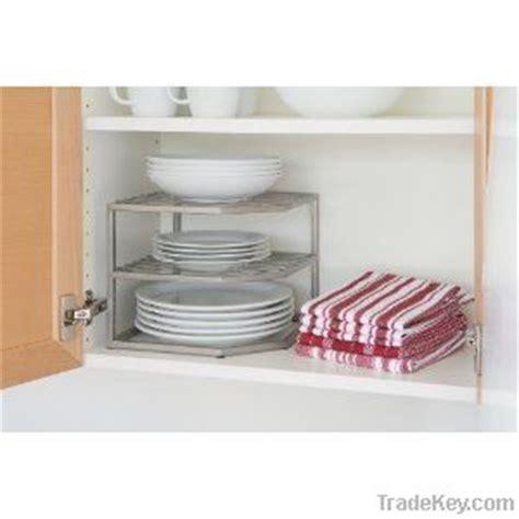Kitchen Cabinet Organizer Companies by Kitchen Shelf Cabinet Organizer Plate Cup Wire Rack Corner