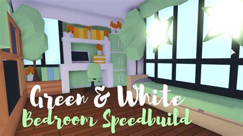 greenwhite bedroom speedbuild roblox adopt  youtube