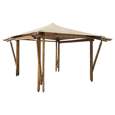 Bamboo Gazebo Kit Bamboo Gazebo Kit With Outdoor Fabric Papa Pergola