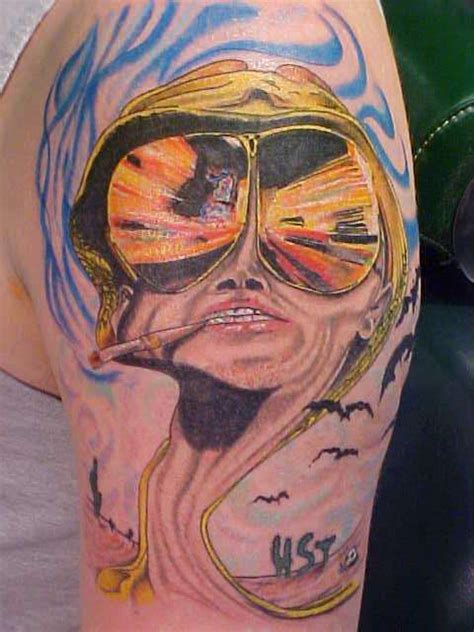 ralph steadman fear  loathing hunter thompson tattoo