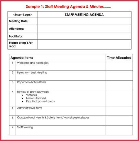 create effective meeting agendas   templates