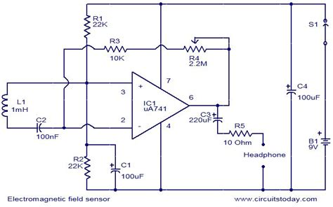 electromagnetic field sensor circuit electronic circuits and diagrams electronic projects and