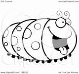 Caterpillar Hungry Coloring Cartoon Clipart Inchworm Outlined Vector Pages Thoman Cory Printable Clip Getcolorings Awesome sketch template