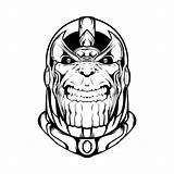 Thanos Coloring Gauntlet Infinity Face Creepy Coloringonly Printable sketch template