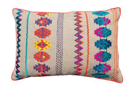 bohemian pillow cases colorful bohemian style linen pillow cover embroidered