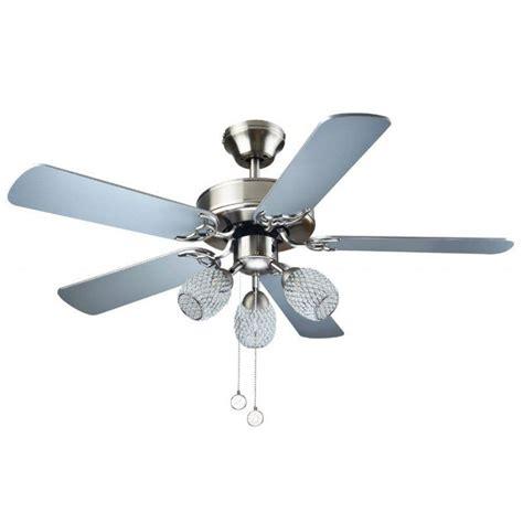 Ventilateur De Plafond Silencieux Ventilateur De Plafond 105 Cm Pour Chambre Vec Pales Blanches Et 3 Lumi 232 Res Spot E14 Puissantes