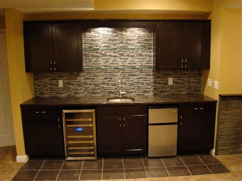 Basement Bar Backsplash by Bar Wall Only Fridge Cabinets Ideas For My