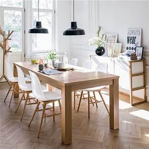 salle a manger salle a manger esprit scandinave en blanc With salle À manger contemporaine avec meuble inspiration scandinave