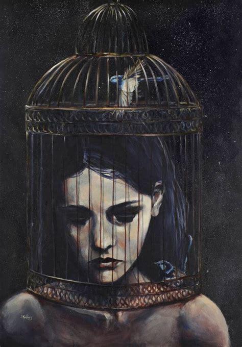 saatchi art artist sara riches painting gilded cage
