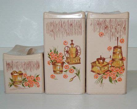 green kitchen canisters vintage metal kitchen canister set ransburg vintage