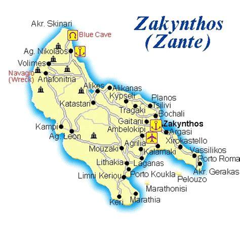 zakynthos zante map