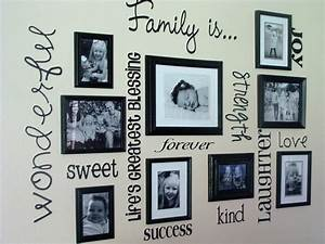 30 family picture frame wall ideas for Family wall decor