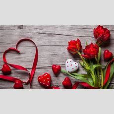 Wallpaper Valentine's Day, Love Image, Heart, Flowers, Tulips, 5k, Holidays #17512