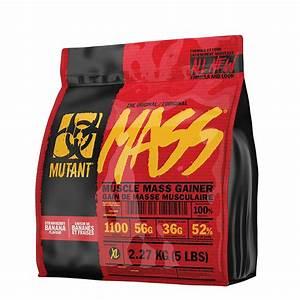 Mutant Mass Weight Gainer Protein Powder High Calorie 5 Lbs Strawberry Banana 627933026695