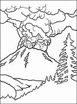 Coloring Volcano Pages Printable Comments sketch template