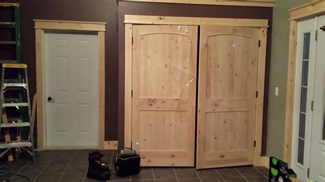 Cupboard Doors Lowes by Closet Doors Knotty Pine Arched Ridged Doors From Lowes