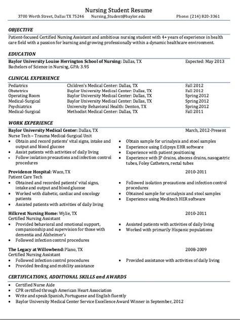 Nursing Resume by 1000 Ideas About Nursing Resume On Rn Resume