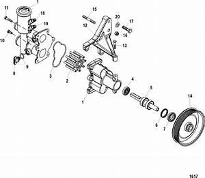Mercruiser 350 Mag Mpi Mie Sea Water Pump Assembly Parts
