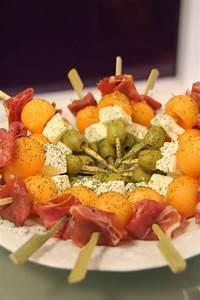 Idée Brochette Apéro : jolies brochettes ap ritives jambon melon ch vre et ~ Melissatoandfro.com Idées de Décoration